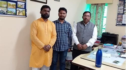 Meeting with Dr. N.D. Yadav