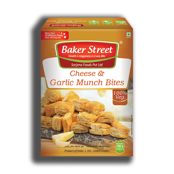 Cheese & Garlic Munch Bites Khari